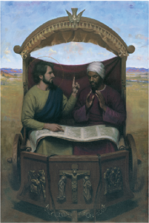 St. Philip and the Ethiopian (27 x 40 Canvas Prints)